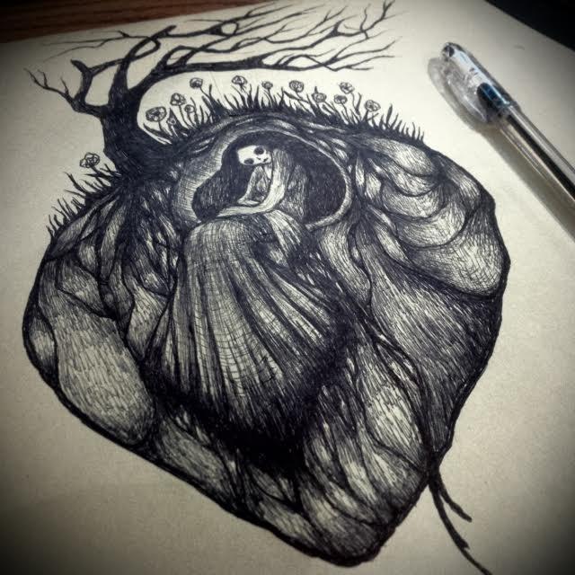 my lonely broken heart by Woodedwoods on DeviantArt