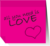 Post it - all you need is L by agosbeatle