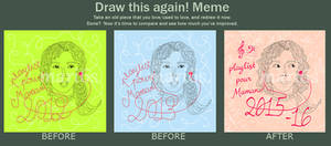 CD cover - playlist for my mom - Draw this again!