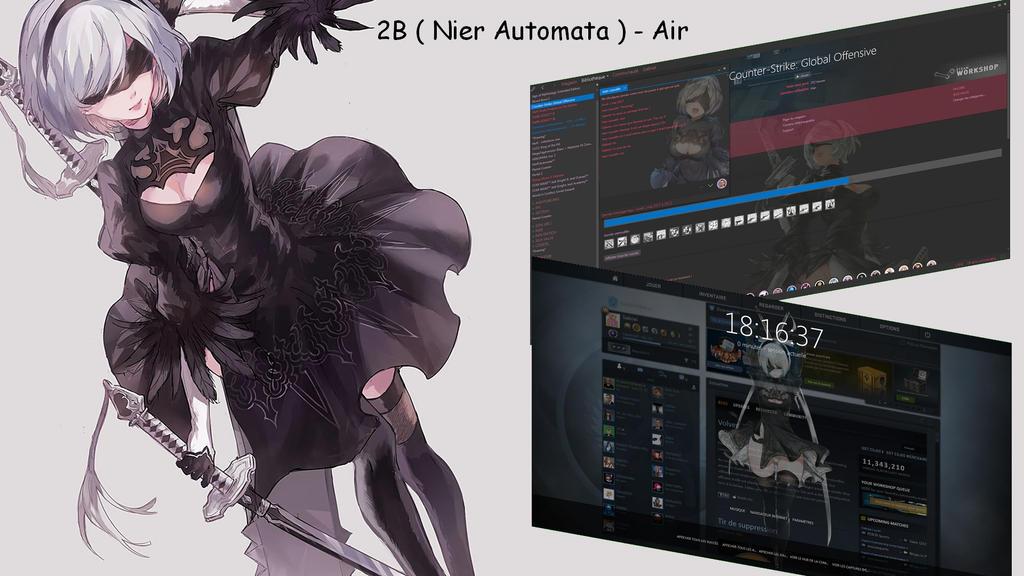 2B ( Nier Automata ) Steam Skin - Air