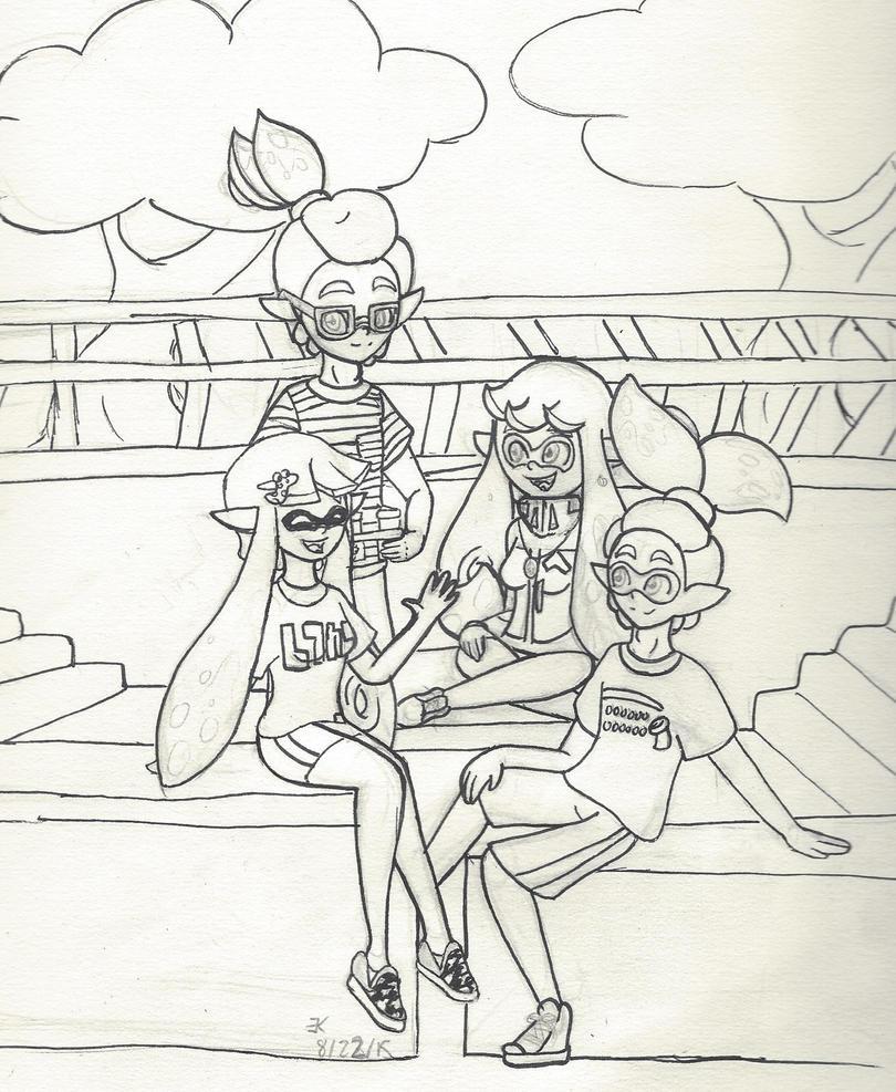 Splatoon OCs: Pink Team Intro( wip) by bluestarproduction