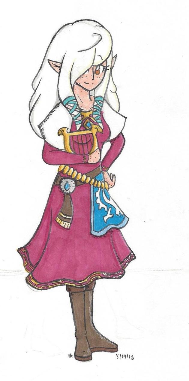 Halloween Costume: Laurel as Zelda by bluestarproduction
