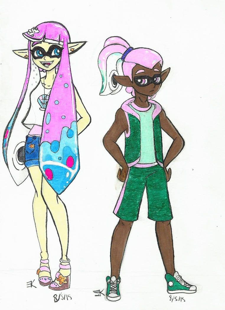 Squid Kids: Lanti and Ely by bluestarproduction