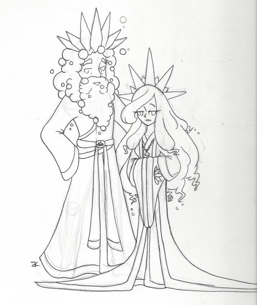 Bath Citizens: King Ambergris 3rd and Queen Myrrh by bluestarproduction