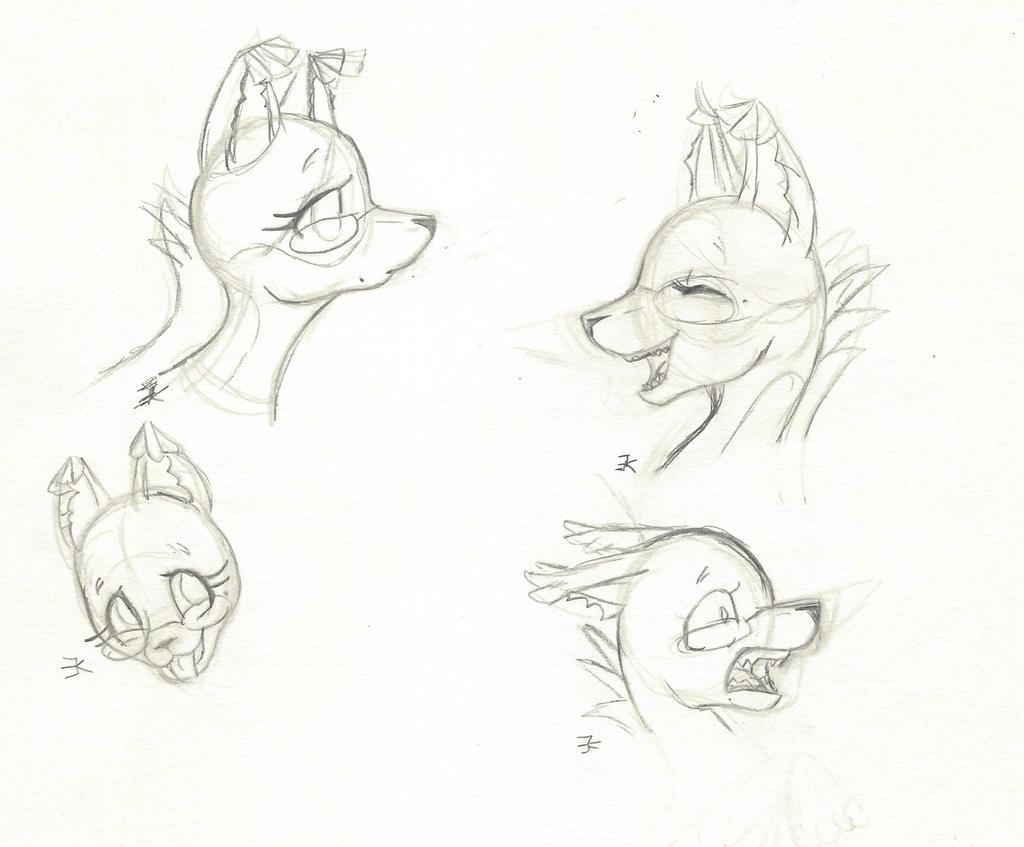 Goldfish Whippet Sketch dump by bluestarproduction
