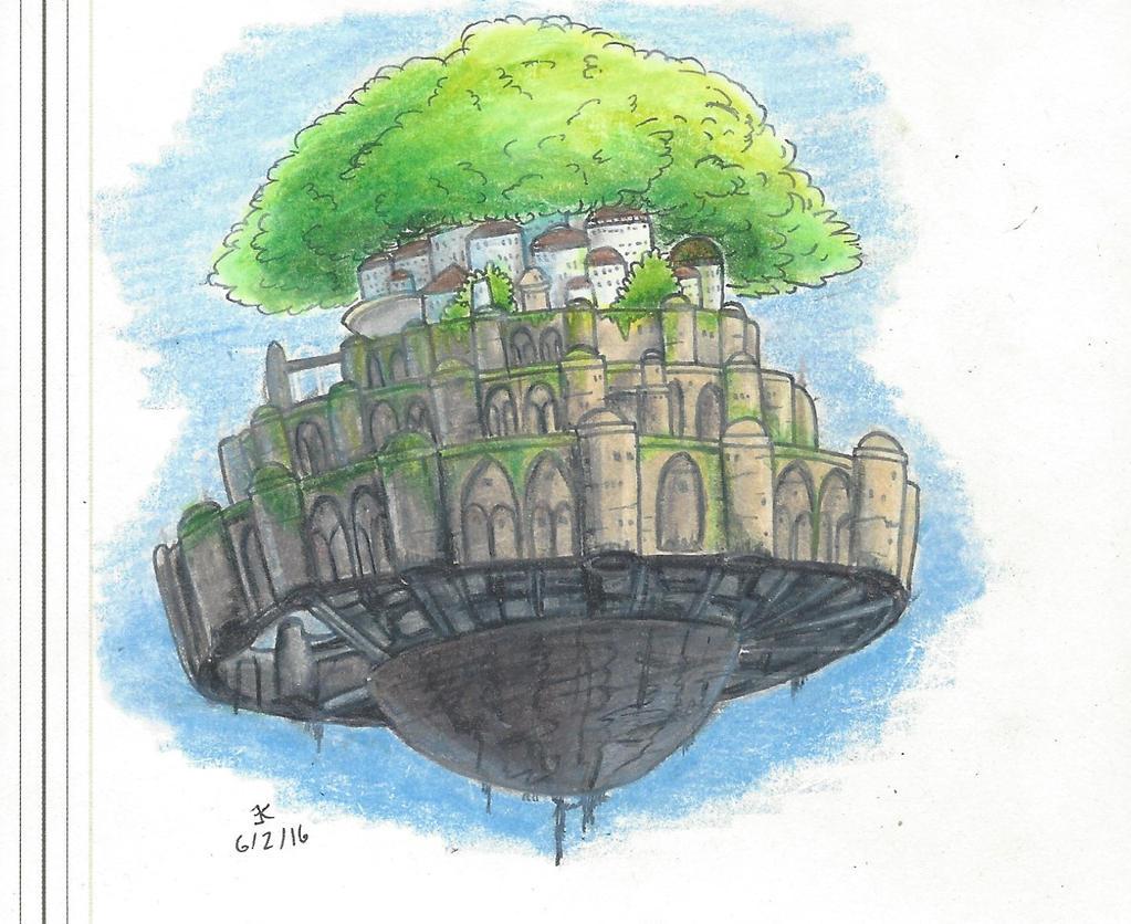 Castle in the Sky by bluestarproduction