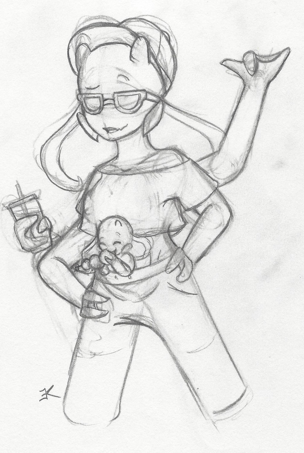 Sketch: Show Up With Starbucks by bluestarproduction