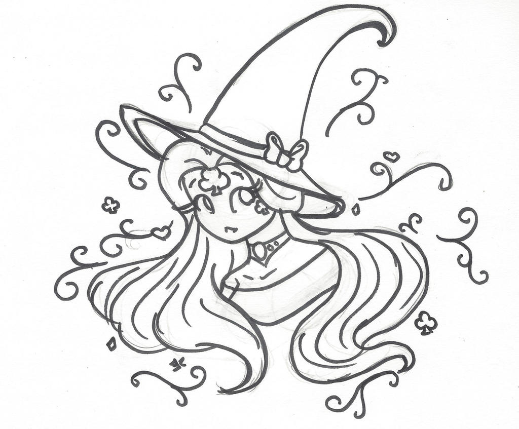 INKtober Day 5: Witch by bluestarproduction