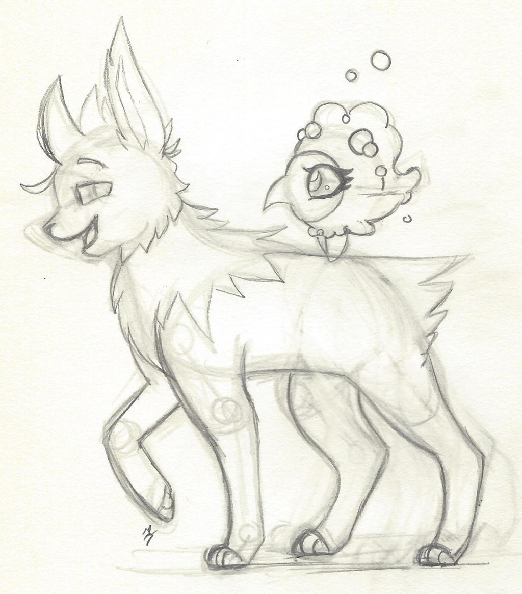 Sketch: Who's that Pokemon by bluestarproduction