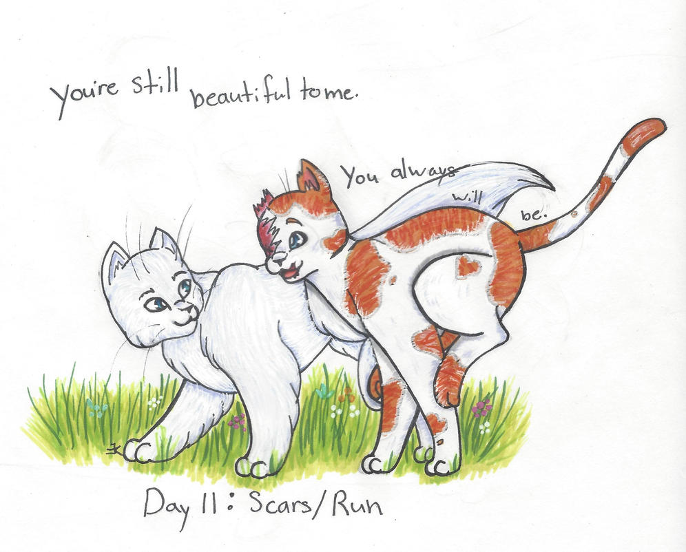 OTP-inkber Day 11: Scars and Run by bluestarproduction