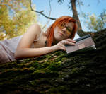 book and a girl