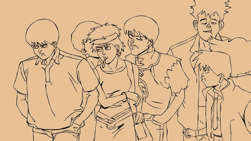 Akira Crowd by MicahBuzan