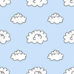 Pattern - Clouds Blue