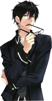 Anime Guy With Glasses