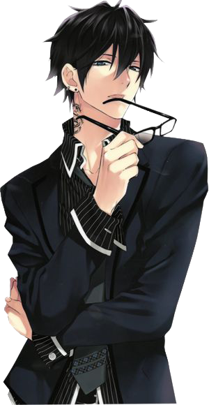 Get Anime Guy With Brown Hair And Glasses Background