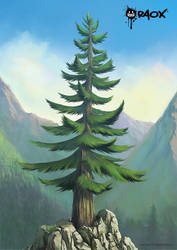 Mountain Tree by raoxcrew