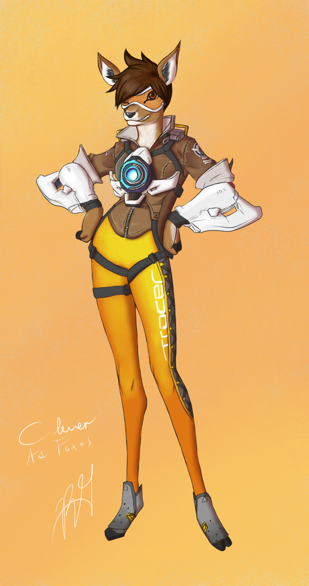 Tracer from overwatch - 2 6