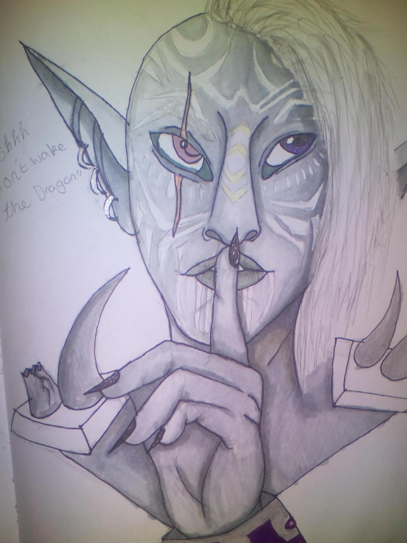 shhh by oddsockzx