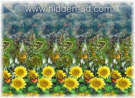 Stereogram poster closeup by 3Dimka