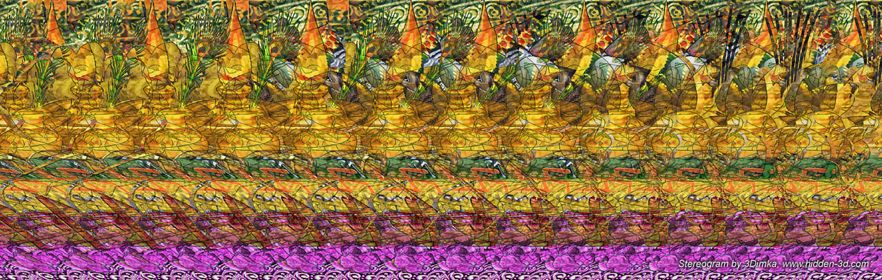 Ganesh Stereogram, fragment 2 by 3Dimka