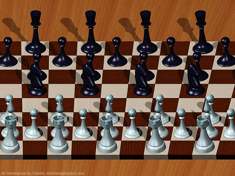 Chess. Single Image Stereogram by 3Dimka
