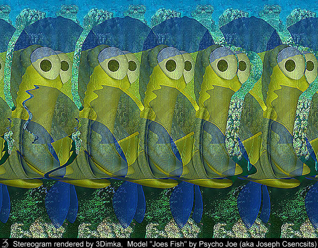 Joes Fish. 3D-Stereogram by 3Dimka