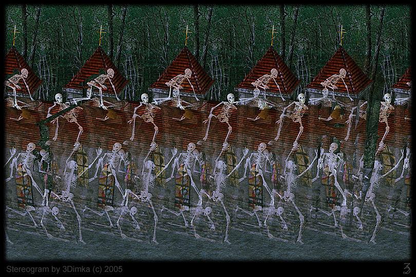 Crazy Night. 3D-Stereogram by 3Dimka
