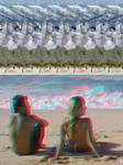 Anaglyph + Stereogram