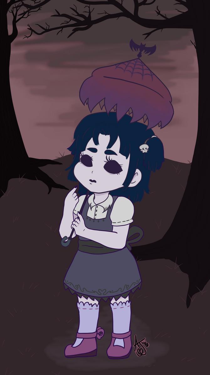 Gothic Lolita Chibi by PsychoMortician