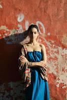 Lady in Blue dress by IlonaShevchishina