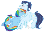 Soarin' with rainbows