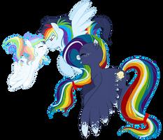 Rainbow kids are dashing