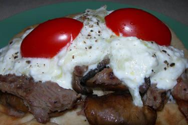SteakMushroomsTzatzikiNaanWrap by crotafang