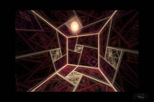 Inside a Dimly Lit Splits-Ngon Cube Room Valentine