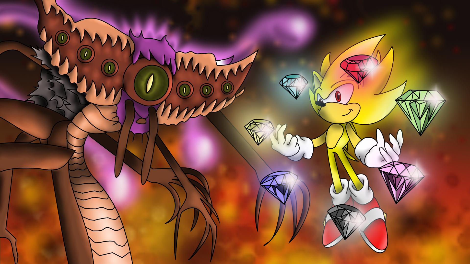 Super Sonic Vs Dark Gaia By Yuzuyuu On Deviantart