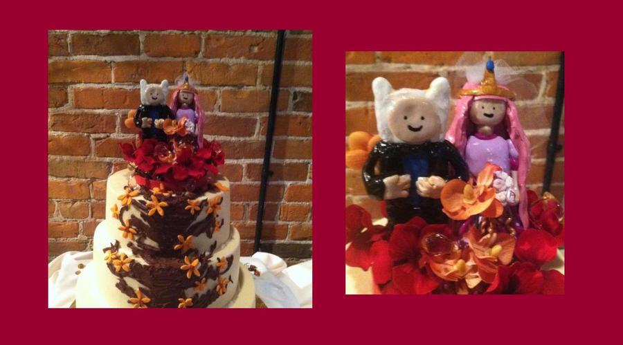 adventure time wedding cake adventure time cake topper by yhu on deviantart 10543