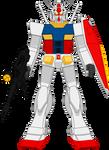 Gundam RX-78 by Deathfirebrony