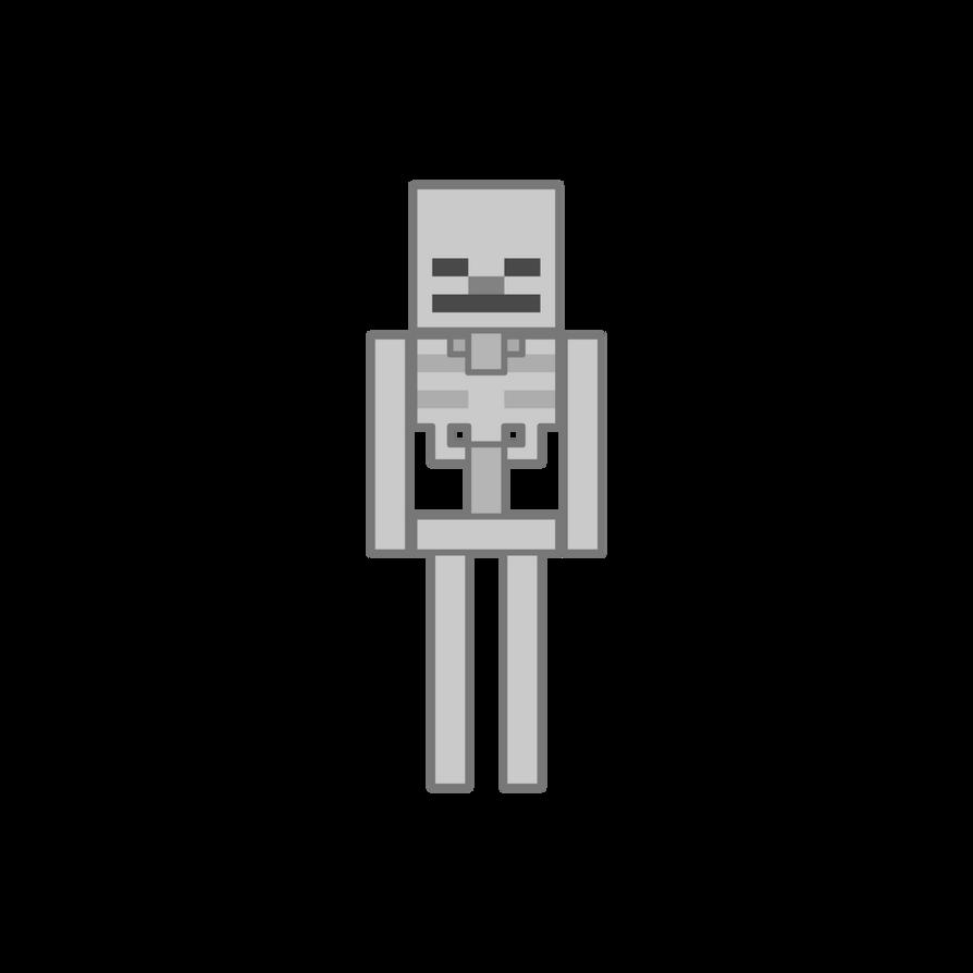 как нарисовать скелета из майнкрафт #4