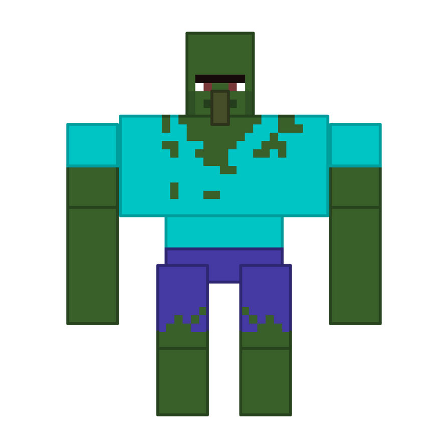 Mlp minecraft mutant zombie villager by deathfirebrony on - Zombie style minecraft ...