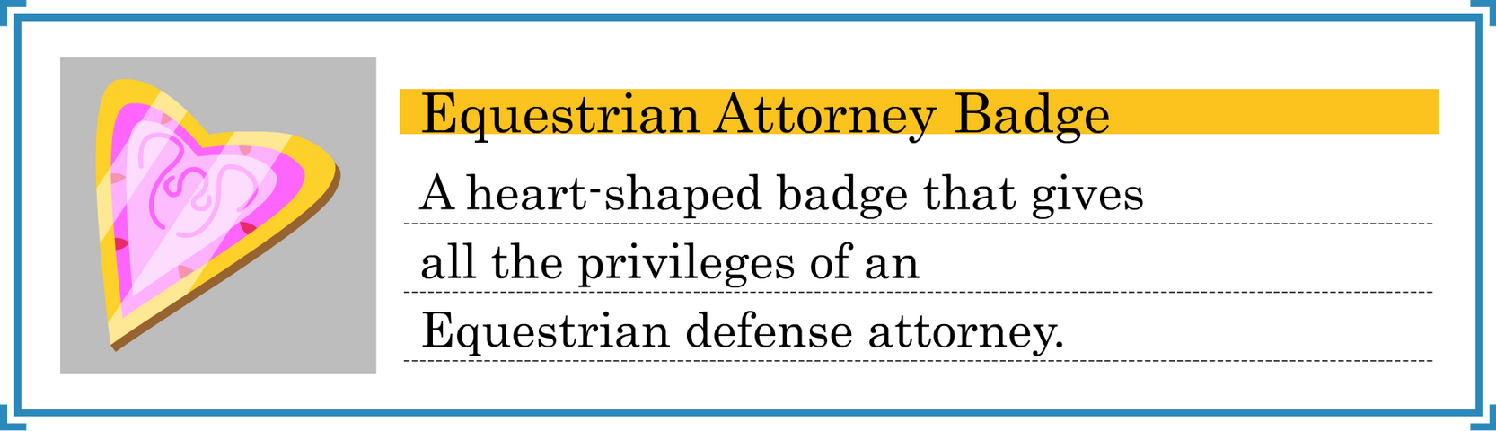Equestrian Attorney Badge [Shaded]