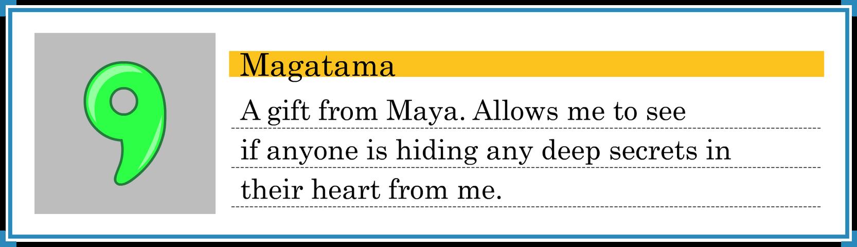 Magatama Evidence [Shaded]