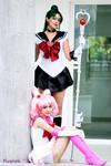 Sailor Pluto and Sailor Chibimoon