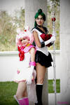 Chibiusa and Setsuna from sailor moon