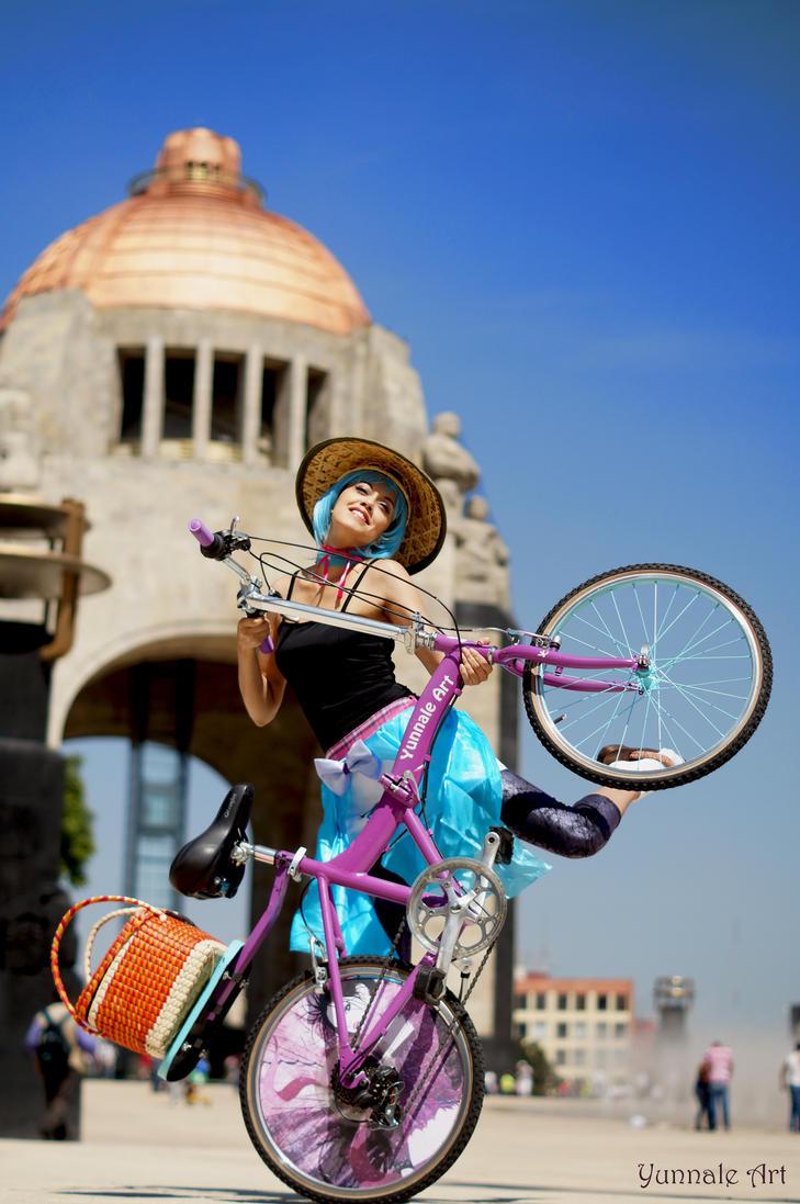 Yunnale on my freak bike by Yunnale