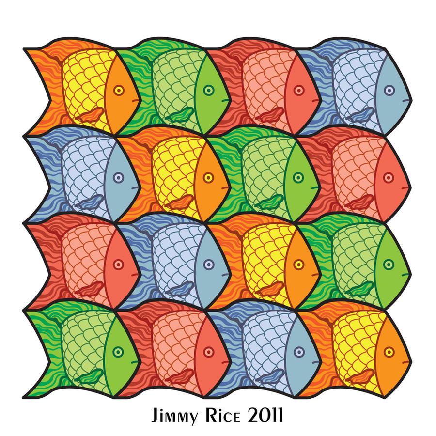 Tessellation of Fish by iamcarpetpython on DeviantArt