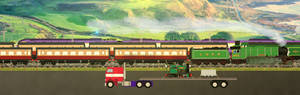 Heading to the Corris railway
