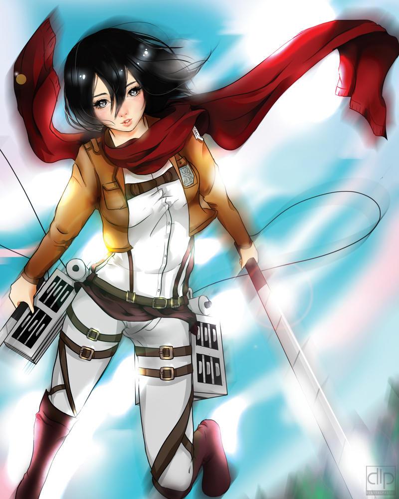 Mikasa by digitalpastel