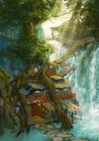 Waterfall Cafe by bopx