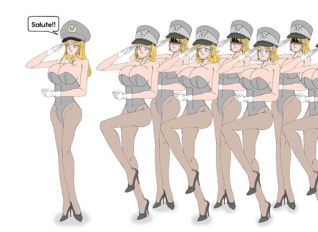 female military parade by killboring