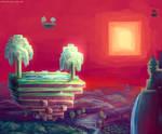 Minecraft Sunset